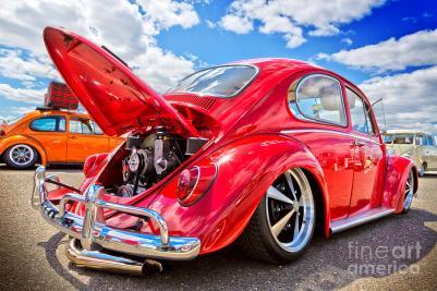 1966-red-vw-bug-rear-view-toshi-tagawa