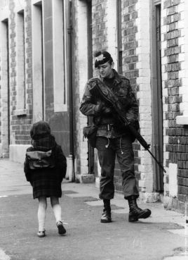 belfast soldier and child